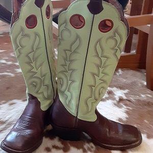 Tony Lama Womans Buckaroo Cowboy Boots sz 9